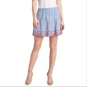 Vineyardvines Embroidered Flounce Skirt